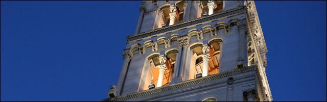 photo cathedrale Saint-Domnius Split cote adriatique Croatie centre ville clocher eglise