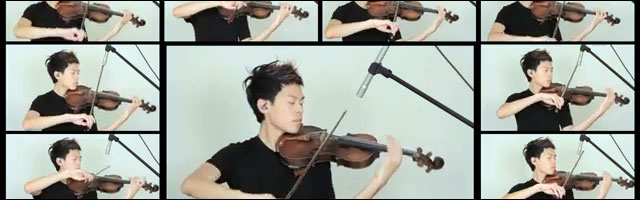 video hd Jason Yang violon reprise musique mashup cover violin