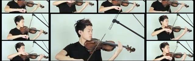 video hd Jason Yang violon reprise musique mashup cover violin