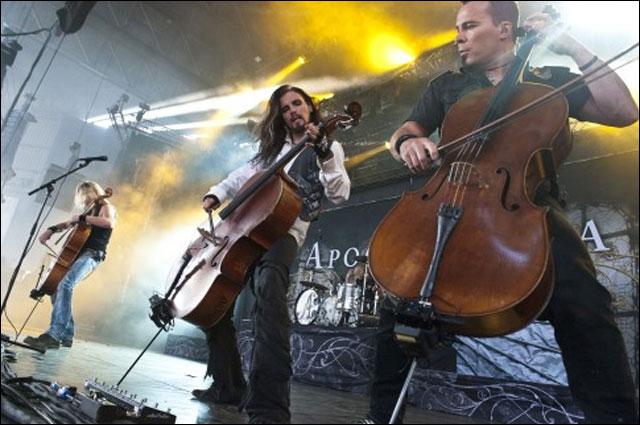 photos hd concert Apocalyptica live Foire aux Vins 2011 Colmar FAV Alsace