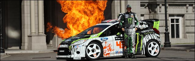 video full hd Ken Block Gymkhana FOUR drift machine Ford Fiesta RS GYM4