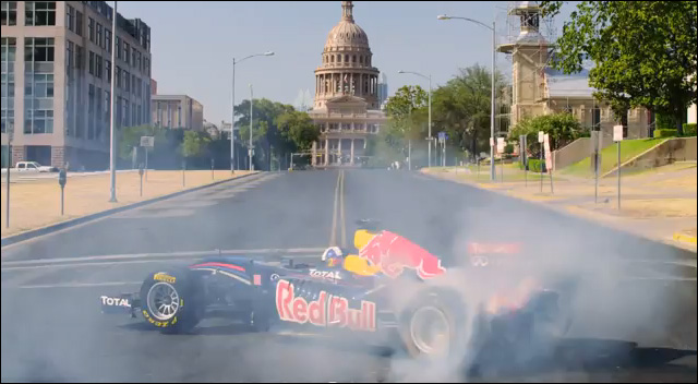 Red Bull Formule 1 GP USA Etats-Unis 2012 video buzz Texas drift F1