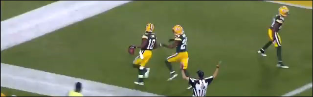 Foot US touchdown Randall Cobb depuis zone kickoff 108yard video hd resume