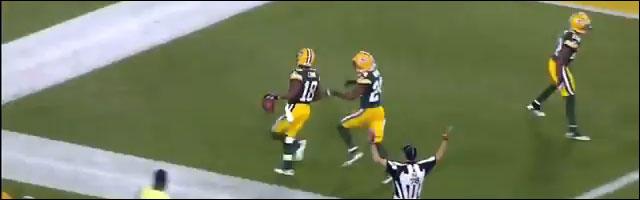 Foot US touchdown Randall Cobb depuis zone kickoff 108yard video hd resume