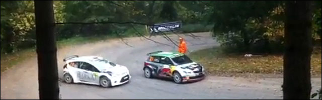 video Nasser Al-Attiyah evite crash Ford Fiesta virage glisse drift Rallye de France 2011