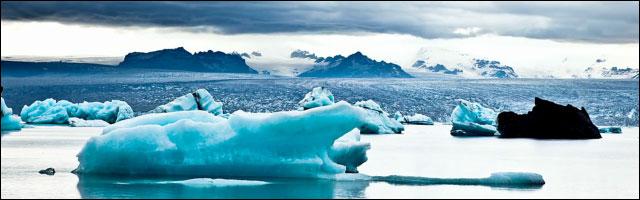 video hd paysage islande landscape coucher de soleil iceberg volcan