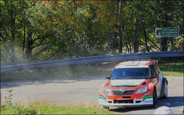 photo Rallye de France 2011 WRC route montagne Alsace Skoda Fabia WRC