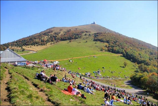 photo Rallye de France 2011 WRC route montagne Alsace vue Grand Ballon Vosges