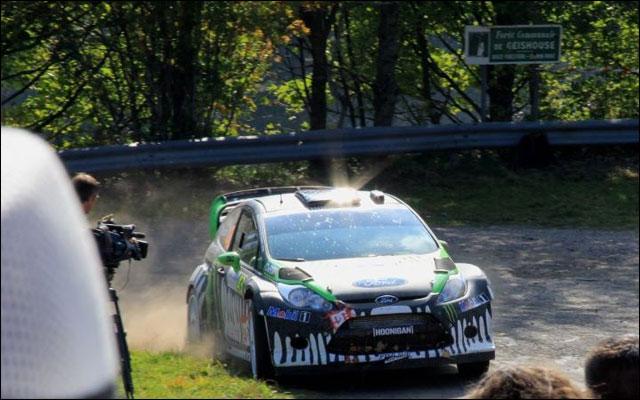 photo Rallye de France 2011 WRC route montagne Alsace Ford Fiesta WRC Ken Block