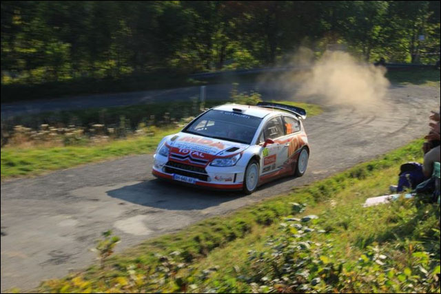 photo Rallye de France 2011 WRC route montagne Alsace Citroen C4 WRC 2011