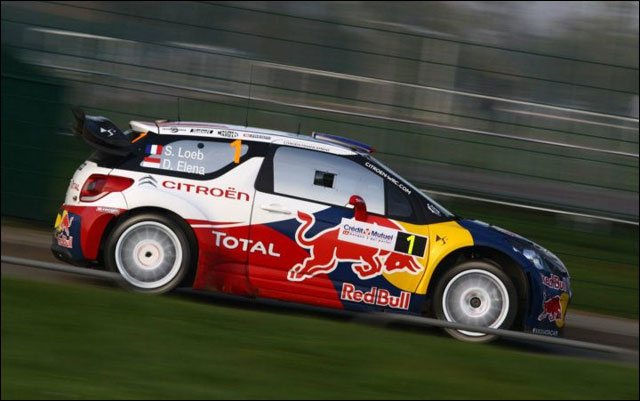 photo Rallye de France 2011 WRC route montagne Alsace Citroen DS3 WRC Sebastien Ogier