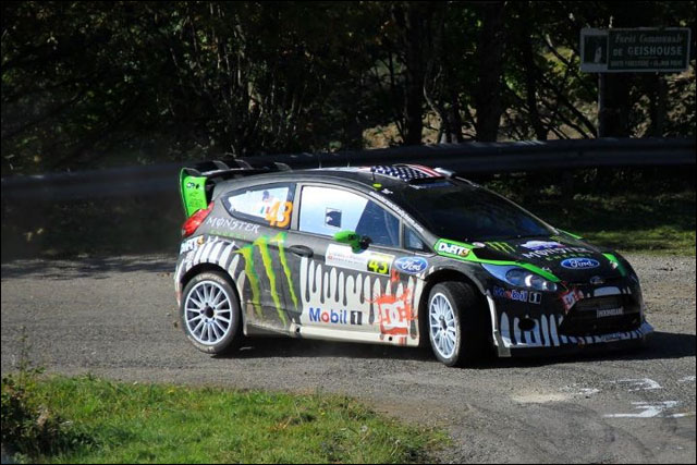 photo Rallye de France 2011 WRC route montagne Alsace Ford Fiesta WRC Ken Block