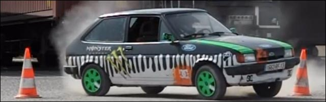 Ford Fiesta MKII Gymkhana Four parodie video hd de Ken Block