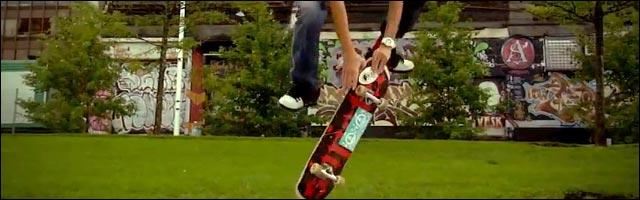 video hd sk8 Frank Lavallee skate streetstyle comme Rodney Mullen skateboard