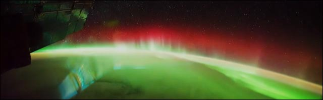 video hd la Terre vue depuis espace copyright NASA ISS aurore boreale
