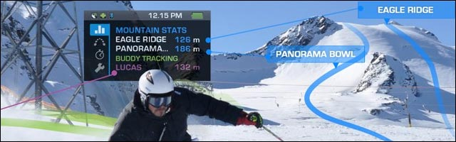 video presentation Recon mod live ski lunettes interactives James Bond Terminator