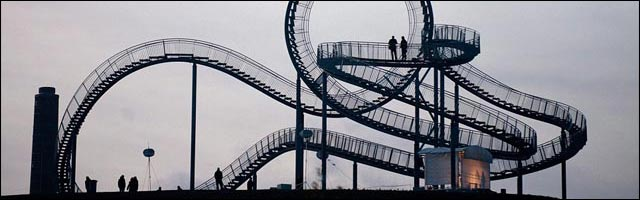 walkable roller coaster grand huit pieton Allemagne photos