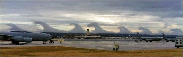 vagues de nuage dans le ciel americain photo video phenomene meteo rare