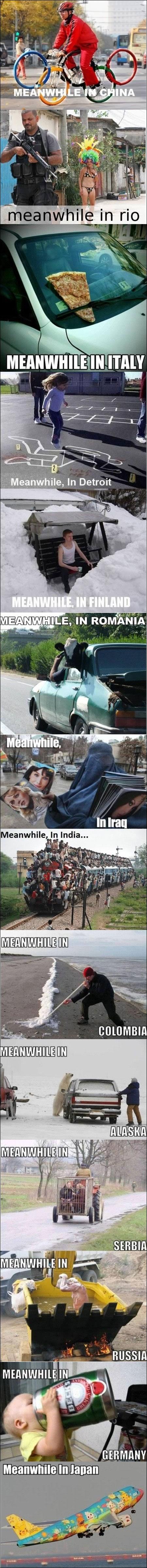 meanwhile around the world 9gag China Iraq Russia Canada Japan Poland