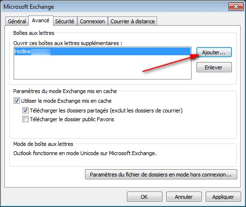 tutoriel acces BAL Exchange mailbox hotline info webmaster commercial support