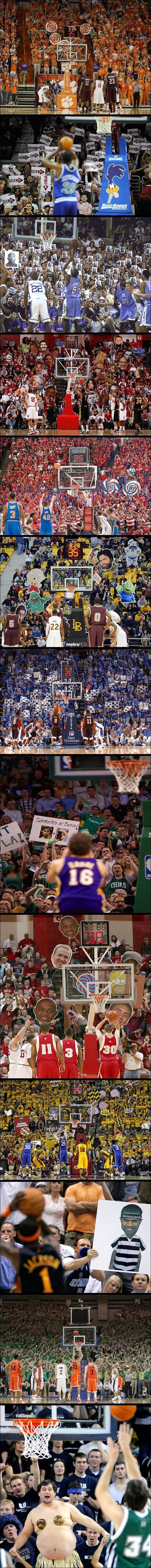 basket NBA defense diversion lancer franc free throw public deconcentration