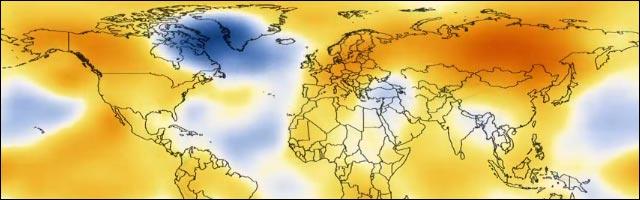 video evolution rechauffement climatique temperature terre planete NASA