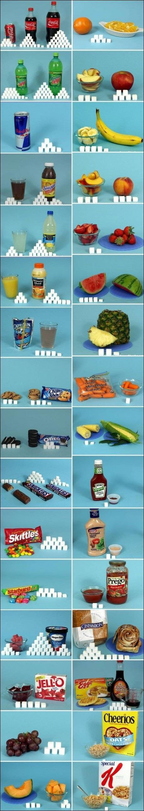 combien contient sucre nourriture boisson sucree Snickers Oreo Coca Cola