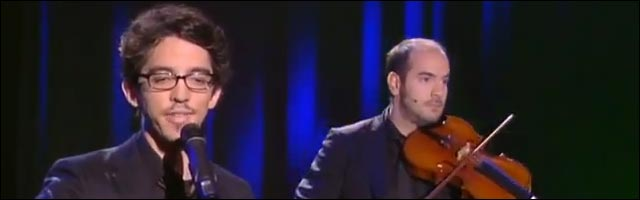video Bref Kyan Khojandi stand up spectacle one man show violon Reperages