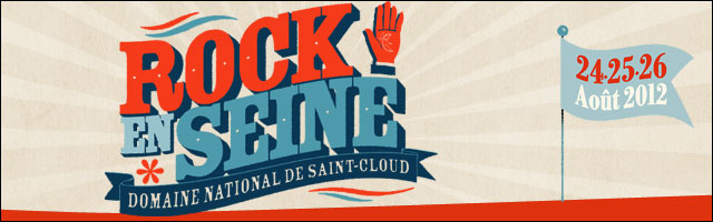 affiche programme officiel festival Rock en Seine 2012 Paris Porte Saint Cloud