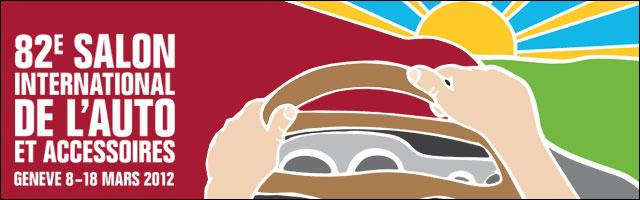logo affiche Salon Auto Geneve 2012 photos annonce nouveaux modeles voitures