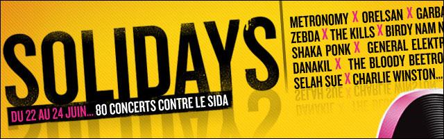 affiche programme officiel fesrival Solidays 2012 Paris Longchamp concert Sida