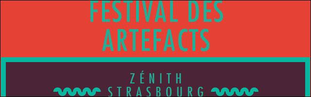 affiche programme officiel Festival Artefacts 2012 Zenith Strasbourg concert