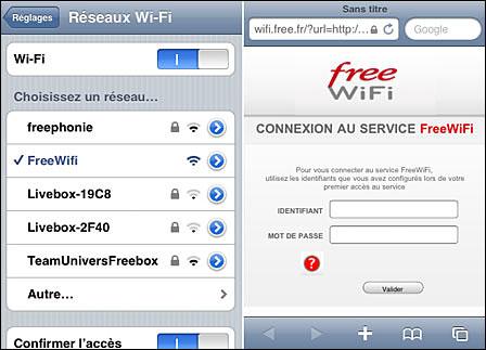 connexion wifi gratuite FreeWifi Freebox Revolution trouver des identifiants gratuits