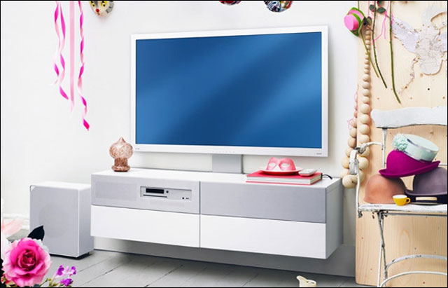 video presentation television TV HD IKEA UPPLEVA kit tout en un meuble tele