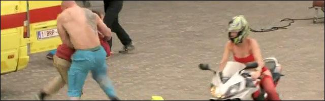 film action belgique chaine TNT Telenet buzz enorme video drole dramatic chipmunk