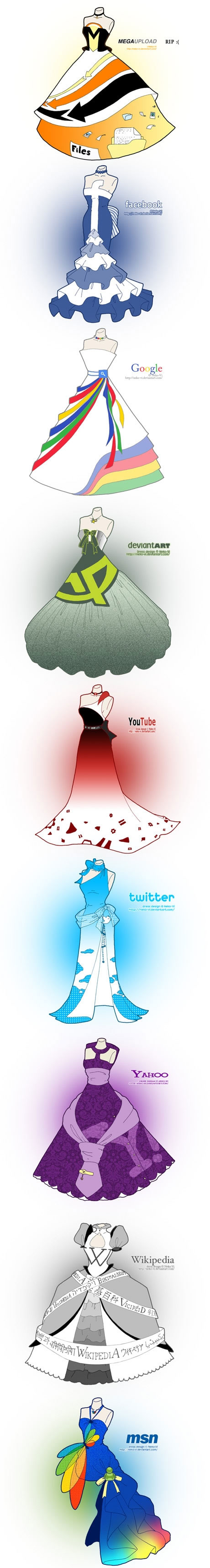 design robe de soiree site internet Google Yahoo MSN Facebok Victor Faretina