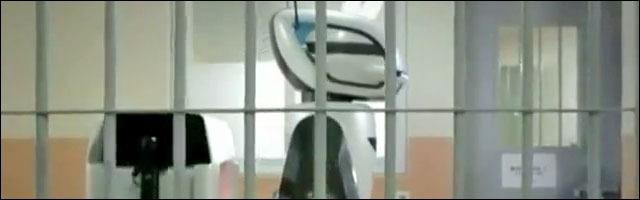 video presentation robot gardien prison Coree du Sud prevent inmate riots