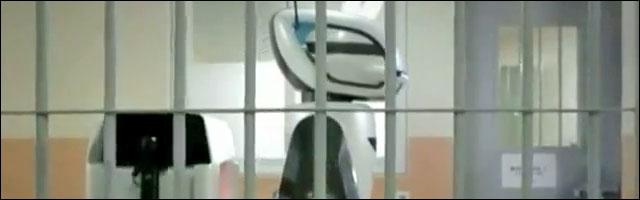 video presentation robot gardien prison Coree du Sud prevent inmate riots