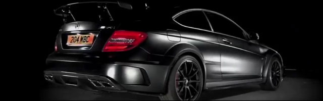 Mercedes C63 AMG Black Series edition limitee 510ch voiture bestiale virile