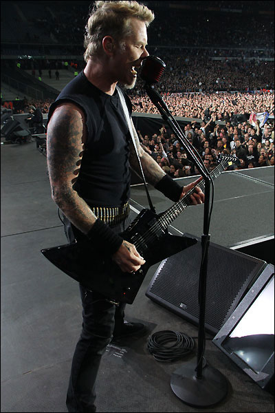 photo hd concert Metallica Paris 2012 Stade de France tournee Black album