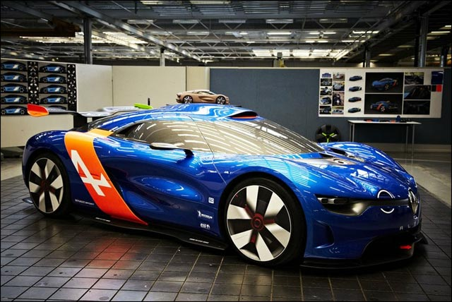 prototype concept car Renault Alpine A110-50 2012 coupe GT circuit course