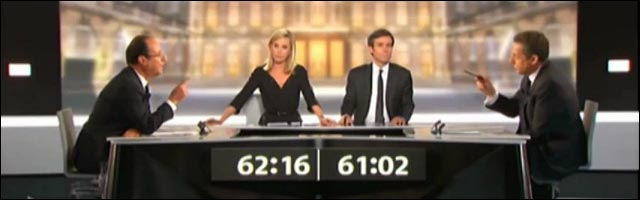debat TV Nicolas Sarkozy vs Francois Hollande election president republique 2012