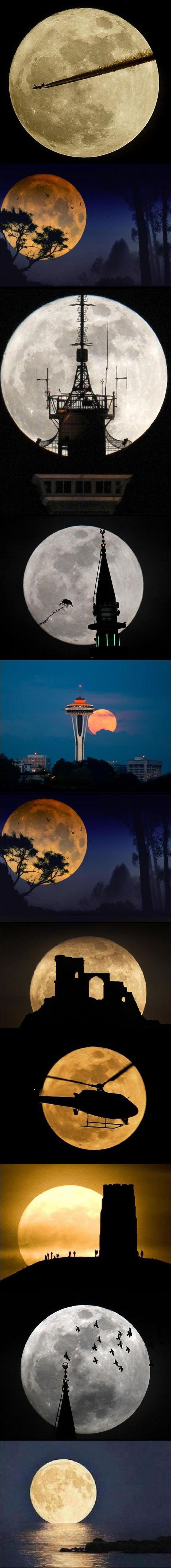gallerie photo hd pleine lune paysage ville campagne autour du monde joli