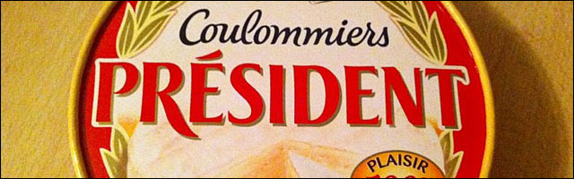vote election President Republique France boite fromage coulommiers photo