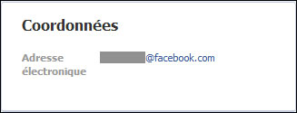 comment afficher profil Facebook masquer email personnel @facebook.com