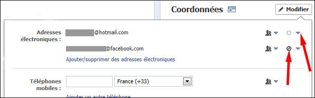 guide tutoriel texte image photo Facebook remettre adresse mail personnelle