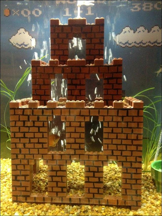 photo video aquarium Lego Super Mario Bros monde sous marin
