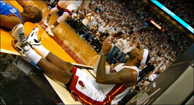 video hd photo NBA Finals 2012 victoire Miami Heat vs Oklahoma Thunder LeBron