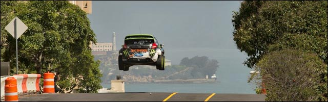 Ken Block video hd Gymkhana 5 dans rues San Francisco video drift extreme