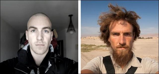 1 an laisser pousser barbe et cheveux bouc moustache photo video avant apres